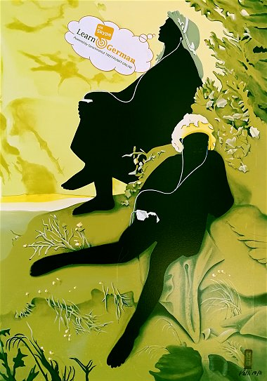 RetroArt -  inspiriert durch ein Gemälde aus dem 19. Jahrhundert und interpretiert von Pinselartist Ralf Metzenmacher