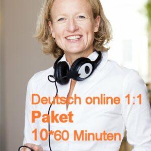 Deutsch Online | 1:1 | Paket | 10*60 Minuten