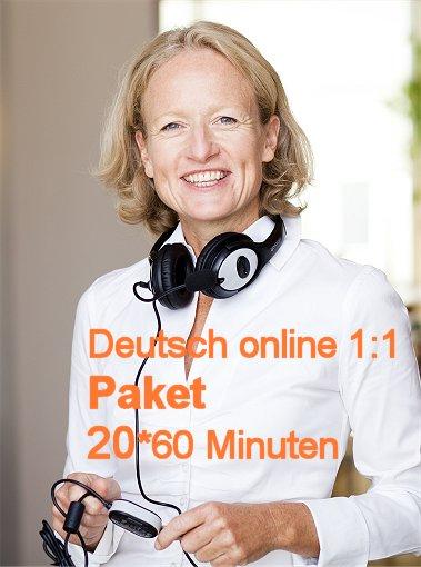 Deutschunterricht Online | 1:1 | Paket | 20*60 Minuten