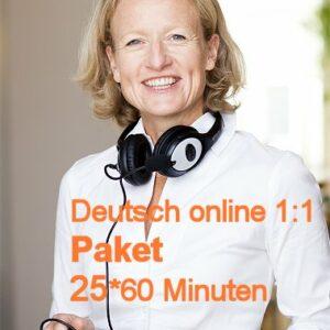 Deutschunterricht Online | 1:1 | Paket | 25*60 Minuten