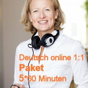 Deutschunterricht Online Paket 5*60 Minuten