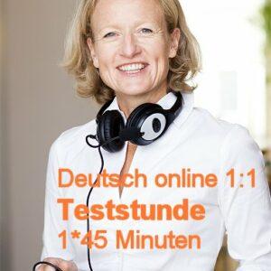 Deutschkurs Online | Live 1:1 | Einzelunterricht | Teststunde | 1*45 Minuten