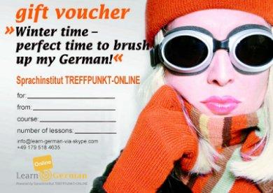 Geschenkgutschein Deutsch lernen Online